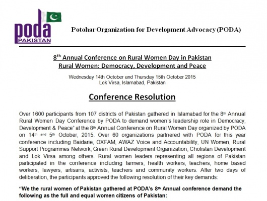 Conference Resolution